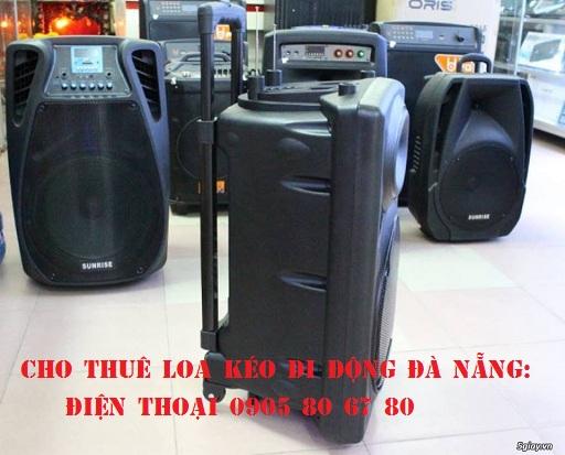 Cho thuê loa kéo, loa du lịch, loa di động giá rẻ tại Đà Nẵng